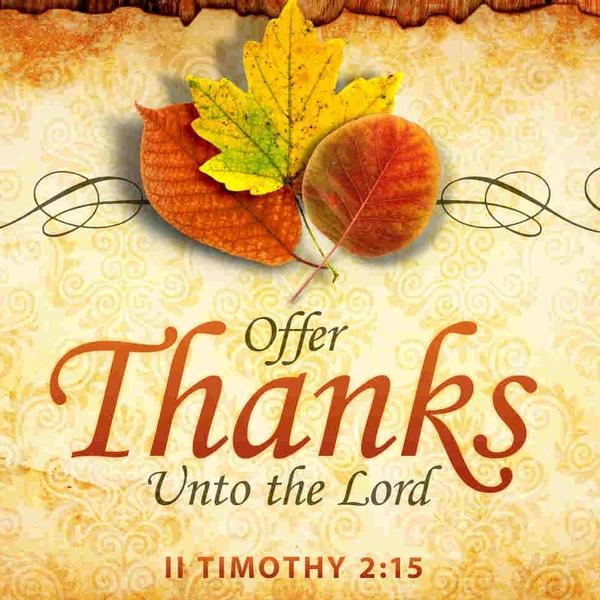 Thanksgiving Monday Service